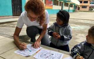 Dental Care International (DCI) Ecuador Dental Volunteer service trip. dentist coloring books about oral hygiene