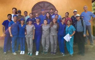 Dental Care International (DCI) mobile dental clinic. Dentists, Hygienists, Dental Assistants, and non-dental professionals working on providing free dental care to children in need