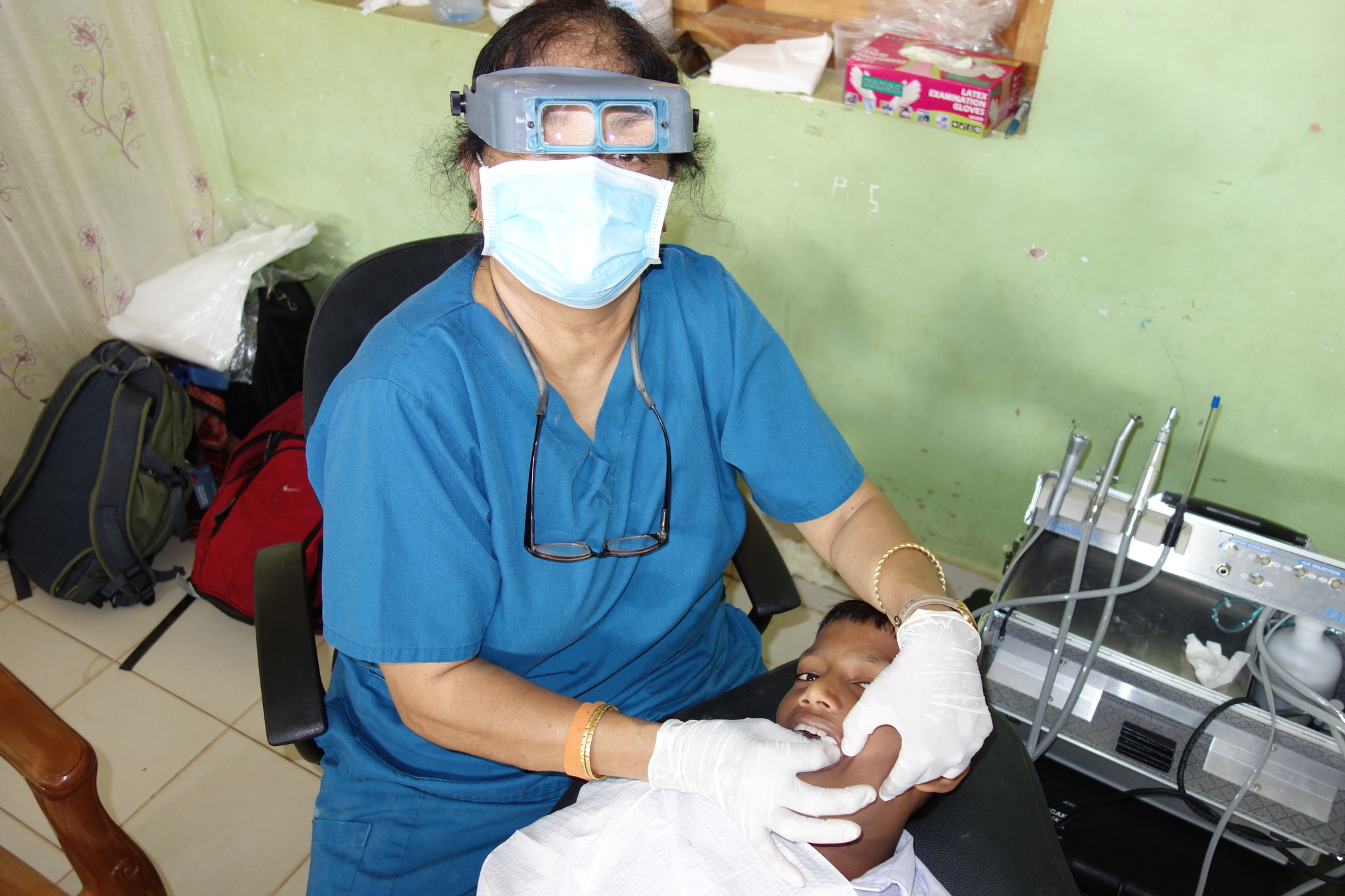Dental Care International (DCI) Mobile dental care to provide free dental care to children in Mullaitivu, Sri Lanka. Dentists, hygienists, dental assistants
